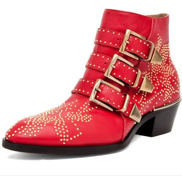 e55f41fe CHLOE Red Susanna Boots/Booties